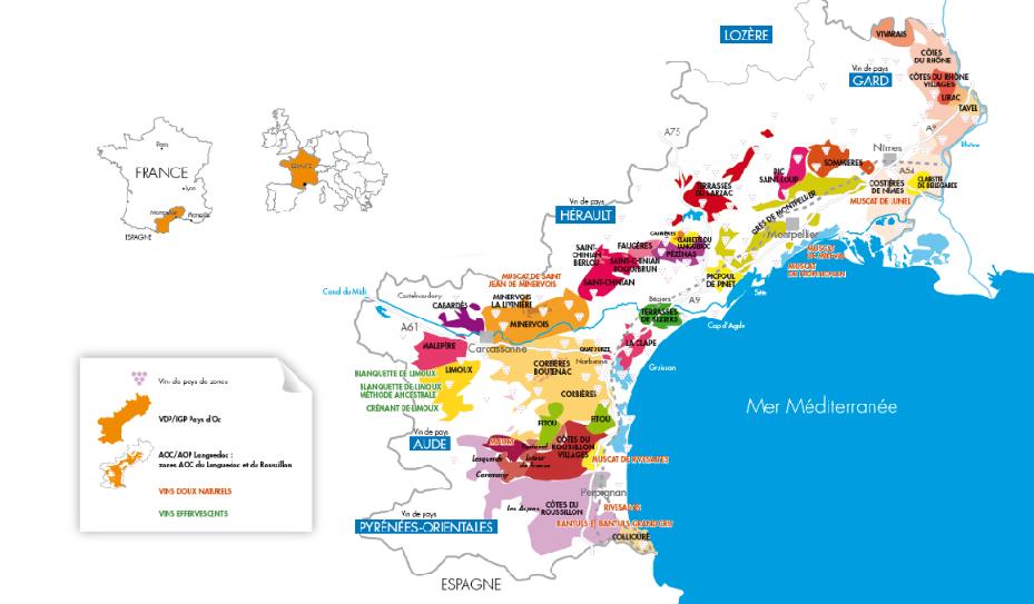 Carte Languedoc Roussillon.Carte Languedoc Roussillon